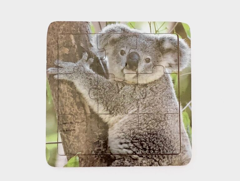 Timber Koala Jigsaw Puzzle - Port Stephens Koala Sanctuary - Port Stephens Koalas